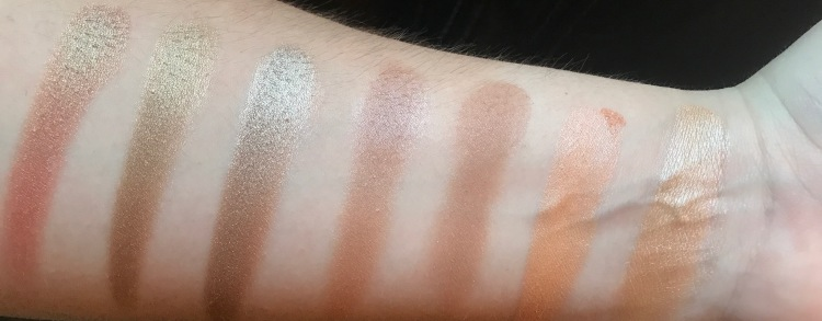 First row shimmer gold palette