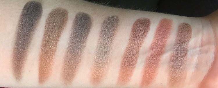 Last row gold shimmer pallete