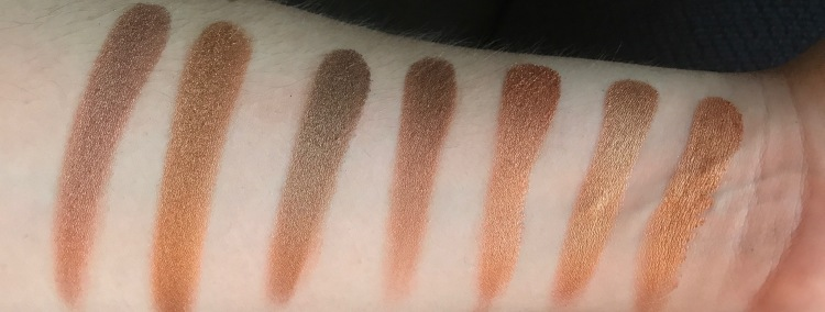 Second row gold shimmer palette