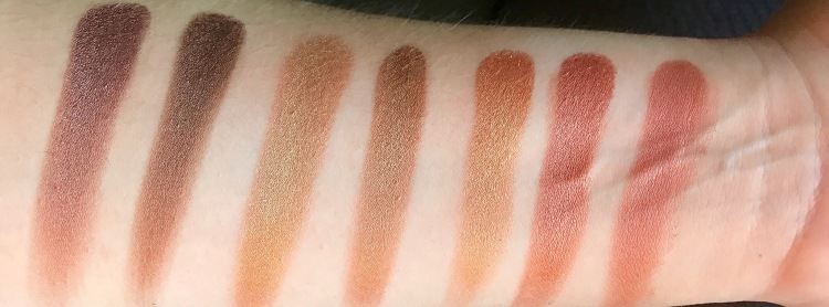 third row shimmer gold palette
